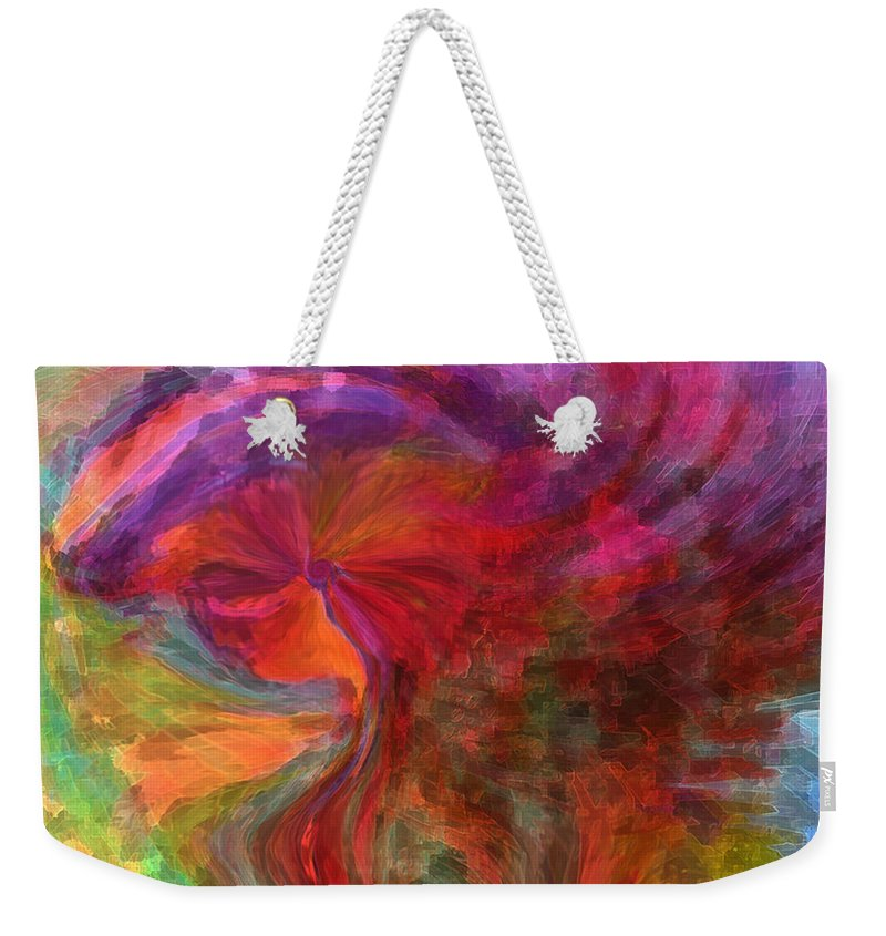 Woman Art Weekender Tote Bag featuring the digital art Women by Linda Sannuti