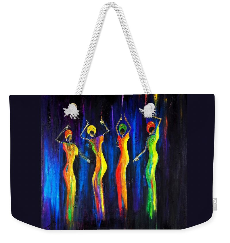 Women Paintings Weekender Tote Bag featuring the painting Womens Day Celebration In South Africa by Marietjie Henning
