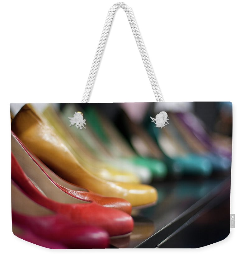 Belgium Weekender Tote Bag featuring the photograph Womens Shoes by Dutchroth