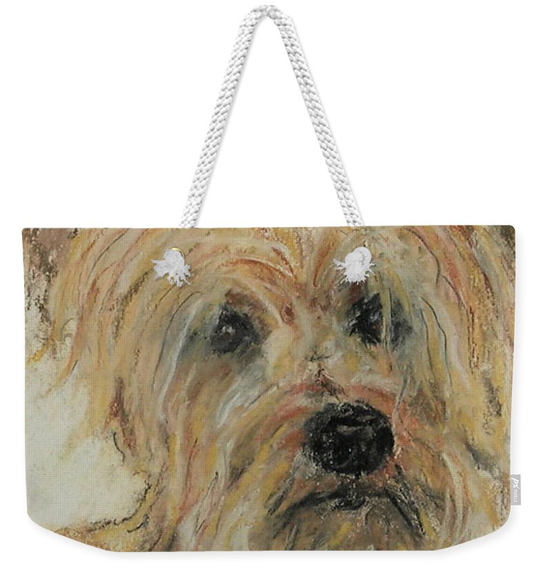 Terrier Weekender Tote Bag featuring the drawing Wonder-ful by Cori Solomon