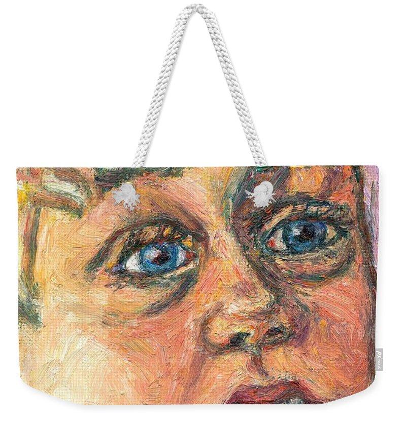 Portrait Weekender Tote Bag featuring the painting Wonder by Kendall Kessler