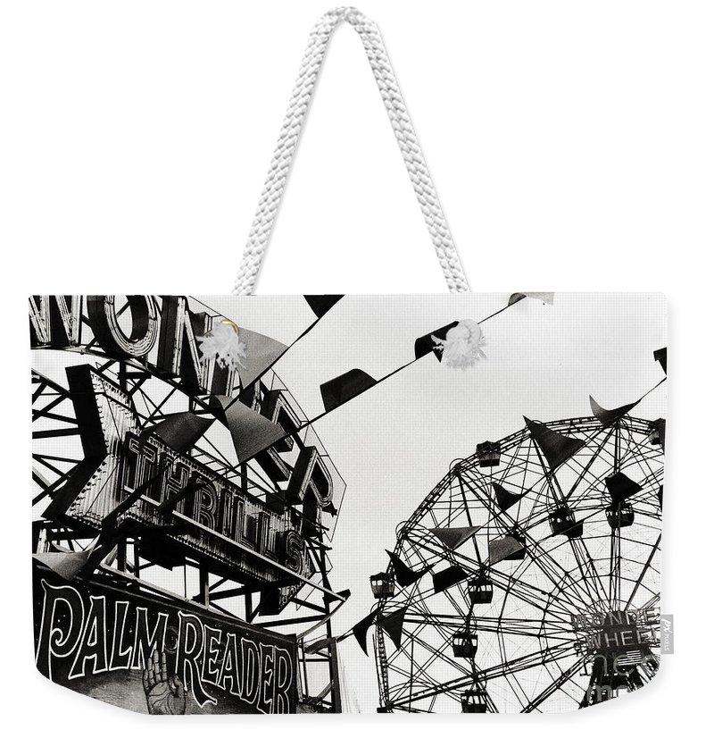 Wonder Wheel Weekender Tote Bag featuring the photograph Wonder Wheel by Madeline Ellis