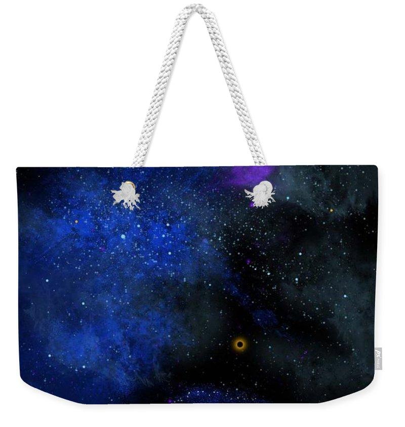 Wonders Of The Universe Mural Weekender Tote Bag featuring the painting Wonders Of The Universe Mural by Frank Wilson