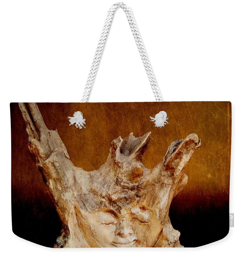Photography Weekender Tote Bag featuring the photograph Wood Carving by Davandra Cribbie