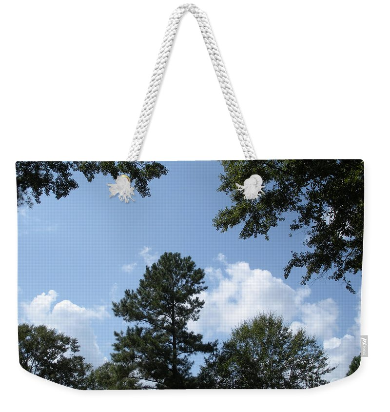 Woods Weekender Tote Bag featuring the photograph Wooded Forest by Joseph Baril
