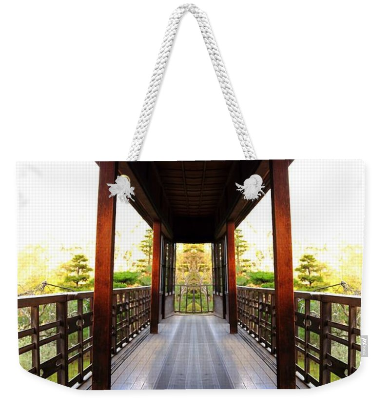 Temple Weekender Tote Bag featuring the photograph Wooden Path by Scott Hill