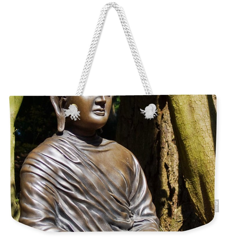 Sculpture Weekender Tote Bag featuring the photograph Woodland Meditation by Susie Peek