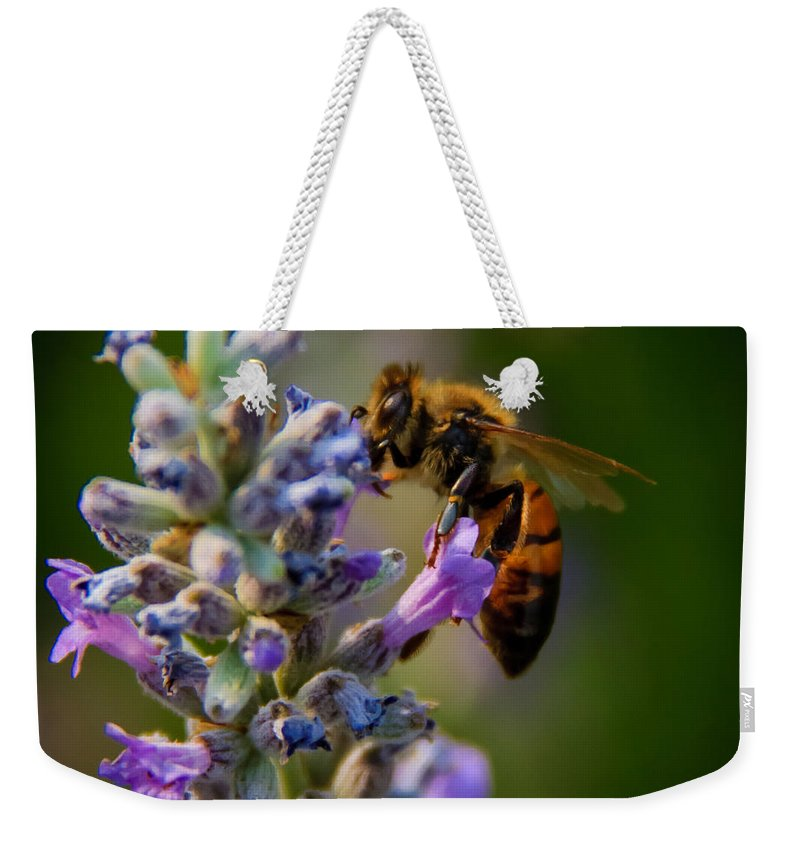 Animals Weekender Tote Bag featuring the photograph Worker Bee by Robert Bales