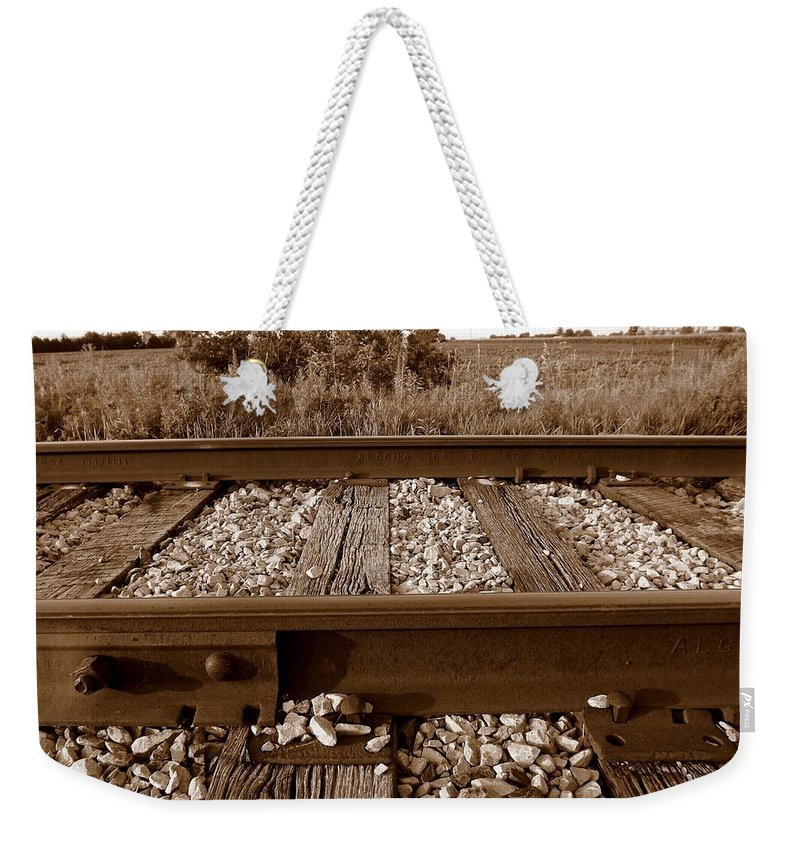 Bolt Weekender Tote Bag featuring the photograph Working On The Railroad by Shelley Blair
