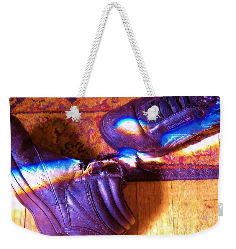 Rainbow Weekender Tote Bag featuring the photograph The Reward by Leah Delano
