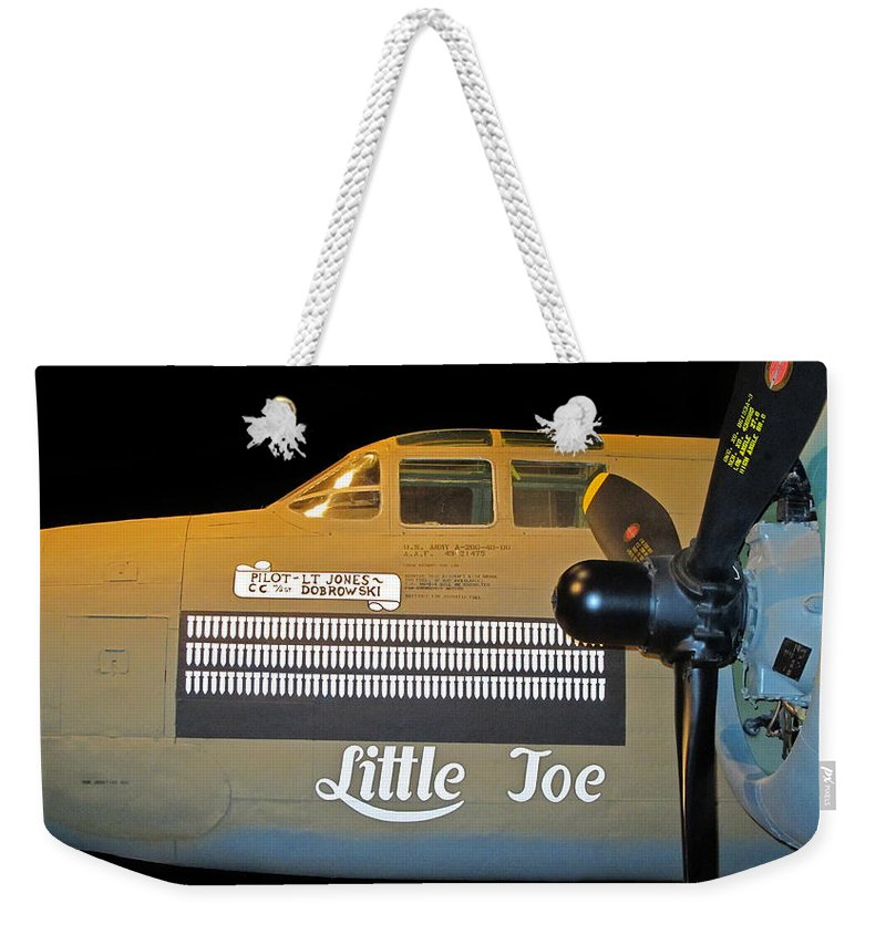 World War 2 Weekender Tote Bag featuring the photograph World War 2 Bomber by Dave Mills