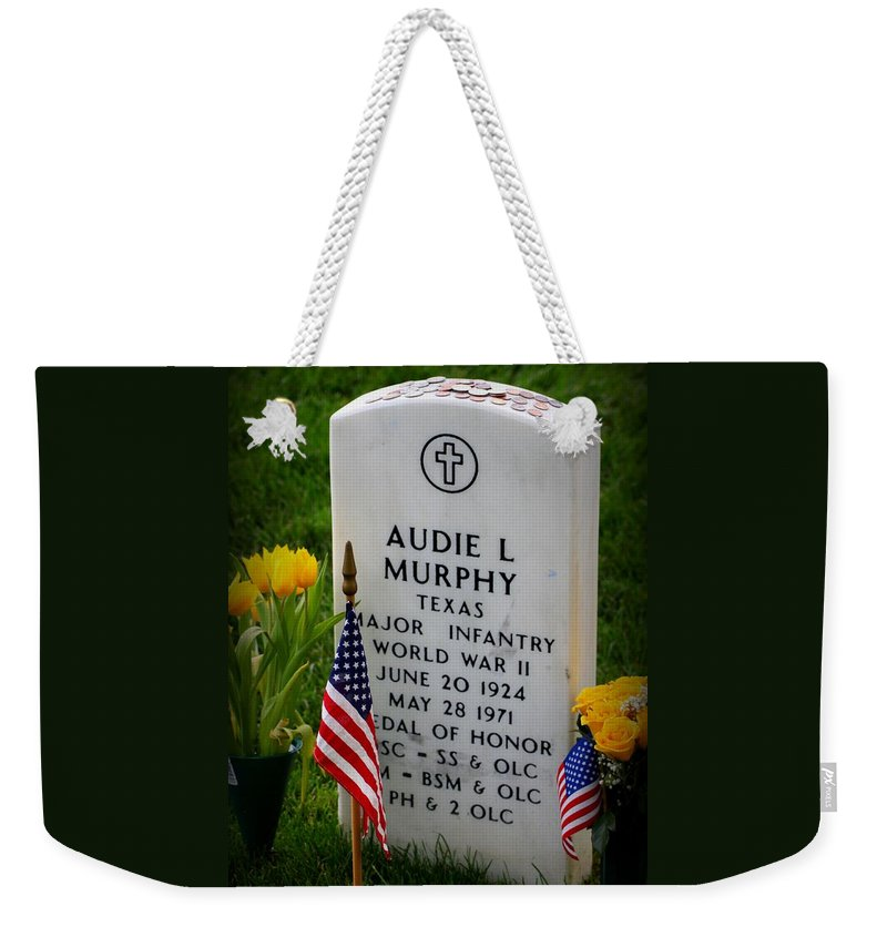 World War Ii Legend Weekender Tote Bag featuring the photograph World War II Legend by Patti Whitten
