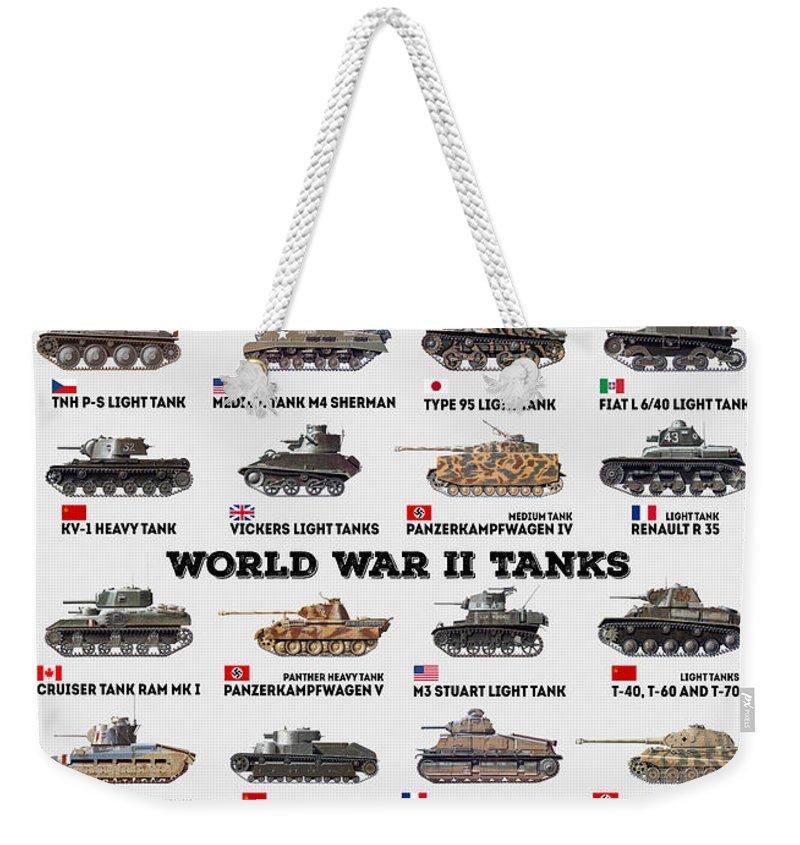 World War 11 Weekender Tote Bags