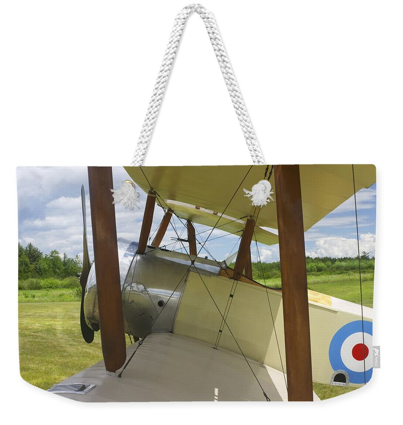 1916 Sopwith Pup Weekender Tote Bag featuring the photograph World War One Classic 1916 Sopwith Pup Biplane by Keith Webber Jr
