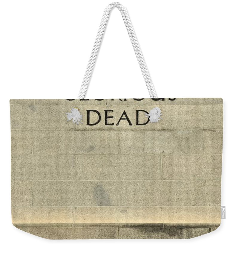 Singapore Weekender Tote Bag featuring the photograph World War Two Our Glorious Dead Cenotaph by Imran Ahmed