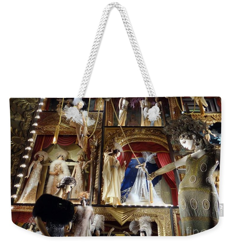 Mannequins Weekender Tote Bag featuring the photograph Worldly Women by Ed Weidman