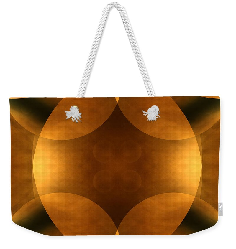 Abstract Weekender Tote Bag featuring the photograph Worlds Collide 11 by Mike McGlothlen