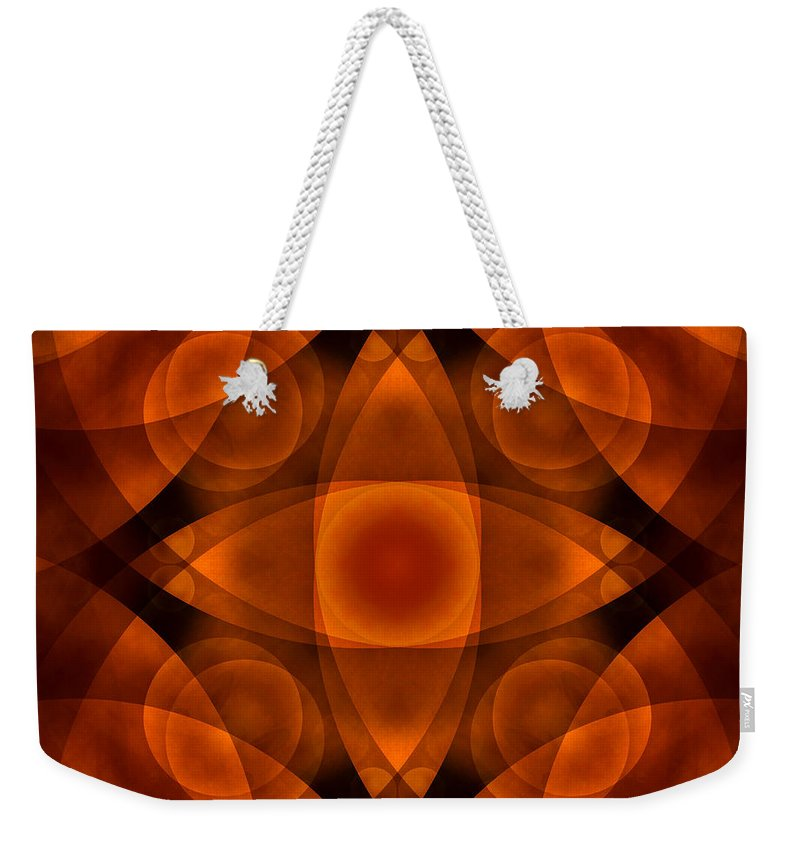 Abstract Weekender Tote Bag featuring the photograph Worlds Collide 15 by Mike McGlothlen