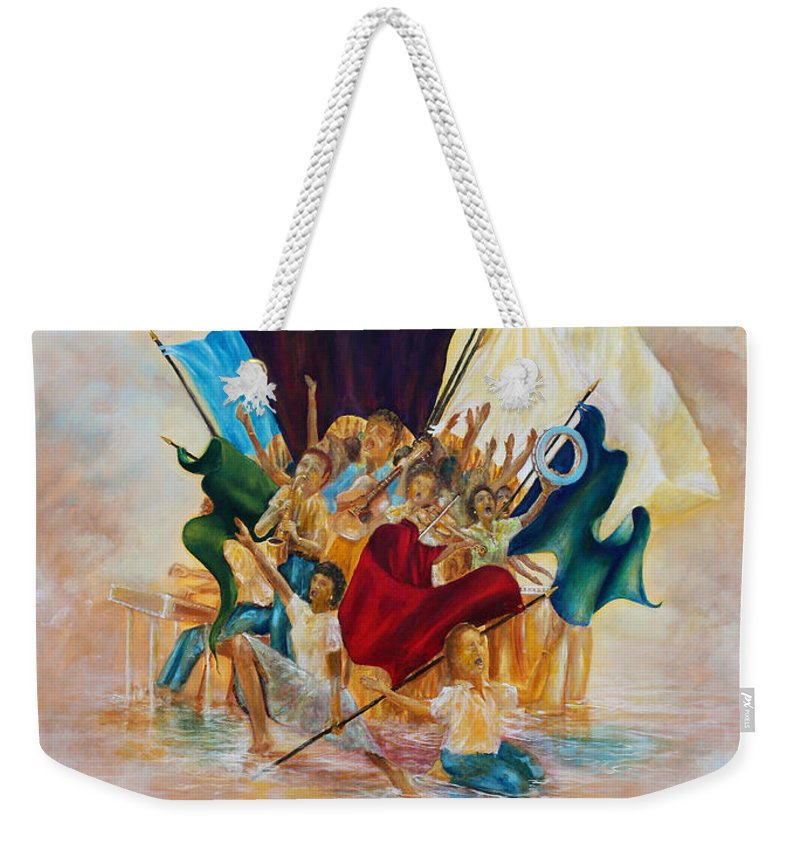 Living Water Weekender Tote Bag featuring the painting Worship by Robert Wright