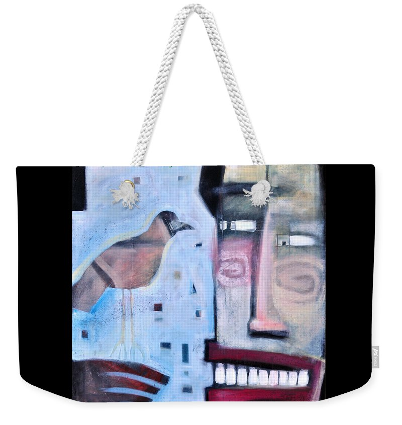 Man Weekender Tote Bag featuring the painting Worth Two... by Tim Nyberg