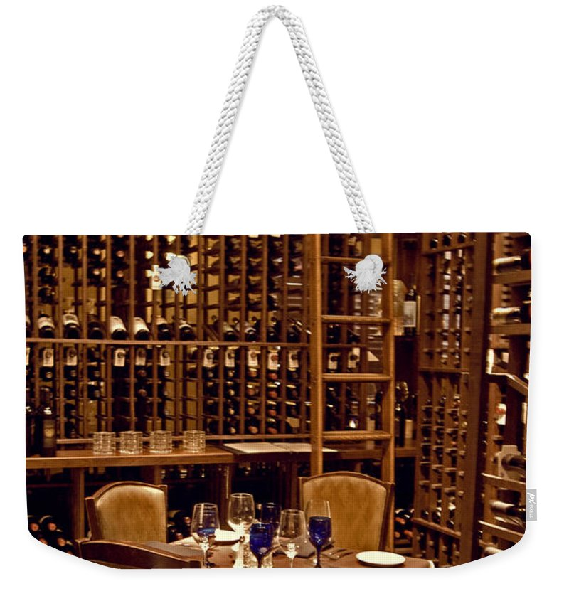 Wright Weekender Tote Bag featuring the photograph Would You Join Me For A Glass My Dear by Paulette B Wright