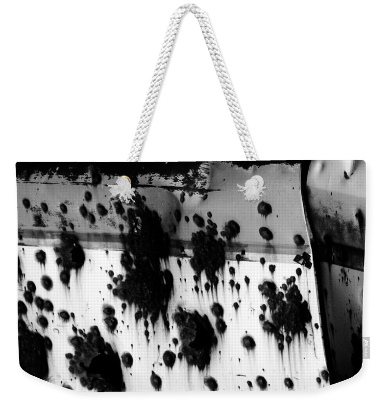 Black Weekender Tote Bag featuring the photograph Wounds That Wont Heal by Jessica Shelton
