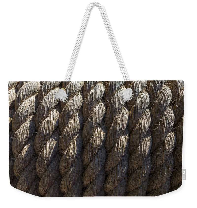 Rope Weekender Tote Bag featuring the photograph Wrapped Up Tight by Scott Campbell