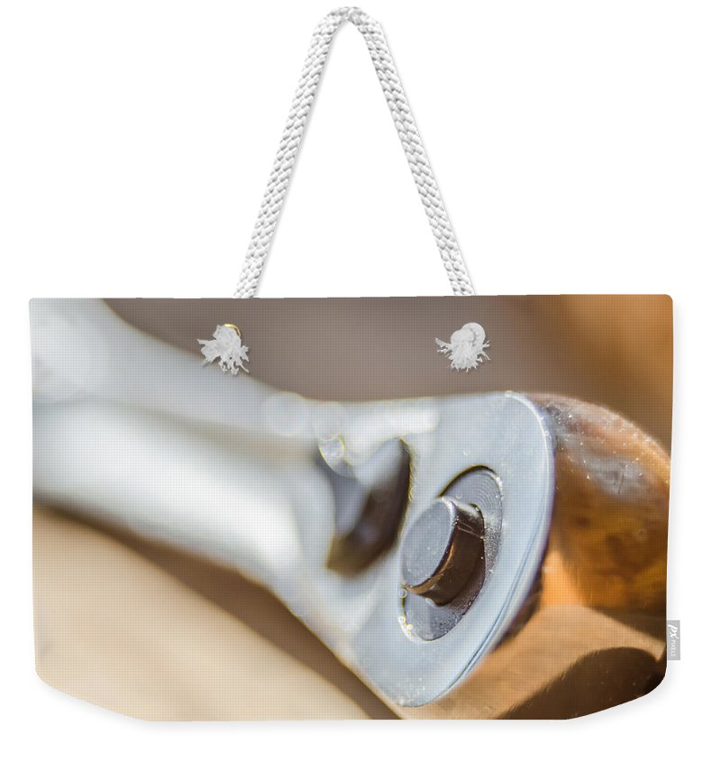 Wrench Weekender Tote Bag featuring the photograph Wrench Tool Closeup by Alex Grichenko