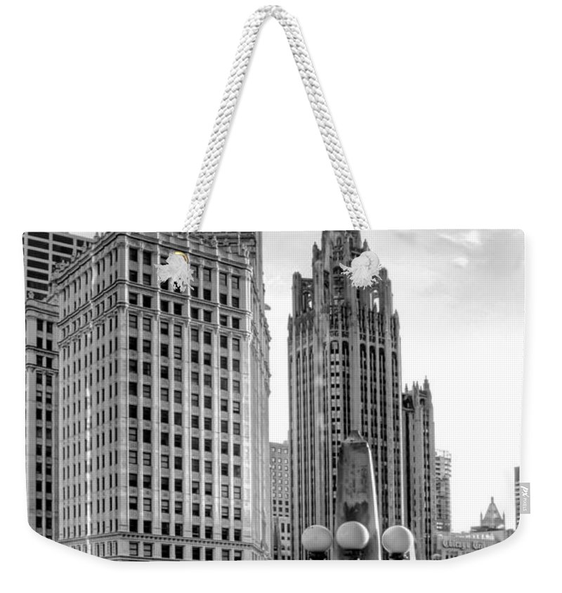 Chicago River Weekender Tote Bags