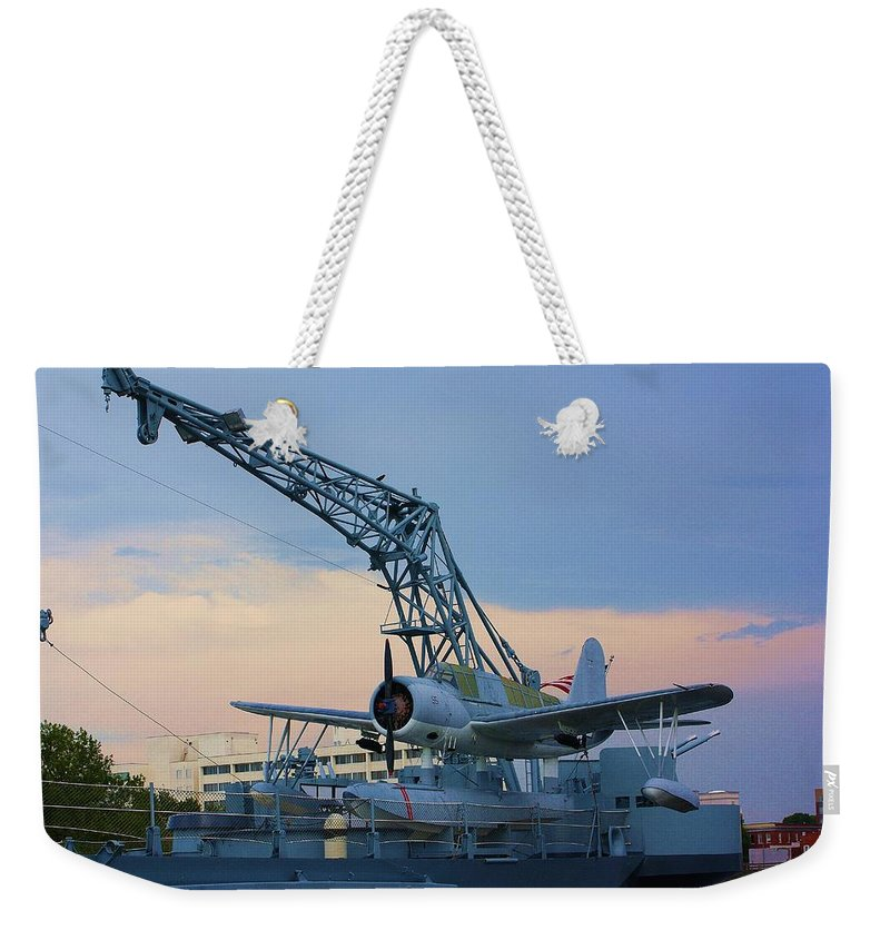 World War Ii Weekender Tote Bag featuring the photograph Ww II Sea Plane by Chuck Hicks