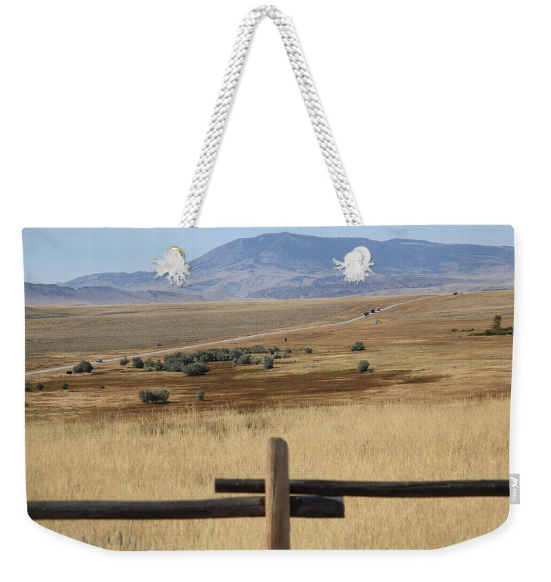 Adventure Weekender Tote Bag featuring the photograph Wyoming Landscape by Frank Romeo