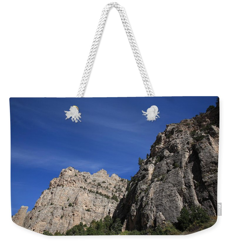 Alpine Weekender Tote Bag featuring the photograph Wyoming Mountain Peaks by Frank Romeo