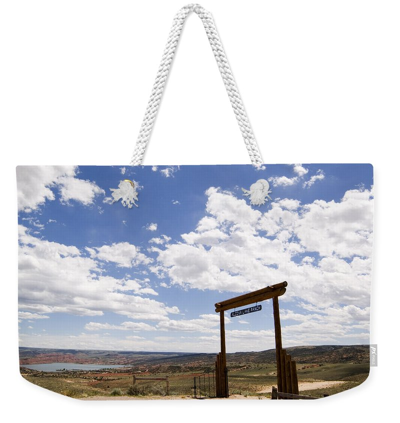 Wyoming Ranch Weekender Tote Bag featuring the photograph Wyoming Ranch by Bob Pardue