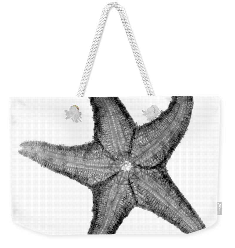 Radiograph Weekender Tote Bag featuring the photograph X-ray Of Starfish by Bert Myers