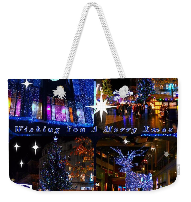Collage Weekender Tote Bag featuring the photograph Xmas Greeting Collage by Joan-Violet Stretch