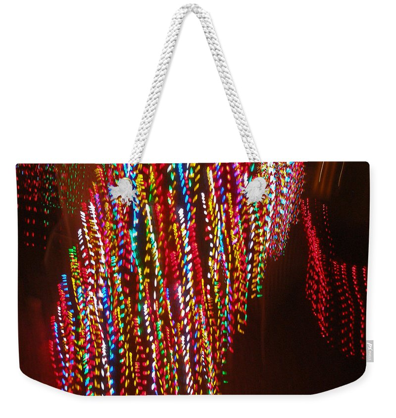 Weekender Tote Bag featuring the photograph Xmas Lights by David Pantuso