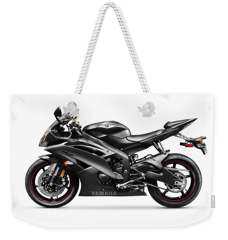 Motorcycle Weekender Tote Bag featuring the photograph Yamaha R6 Supersport Motorcycle by Oleksiy Maksymenko