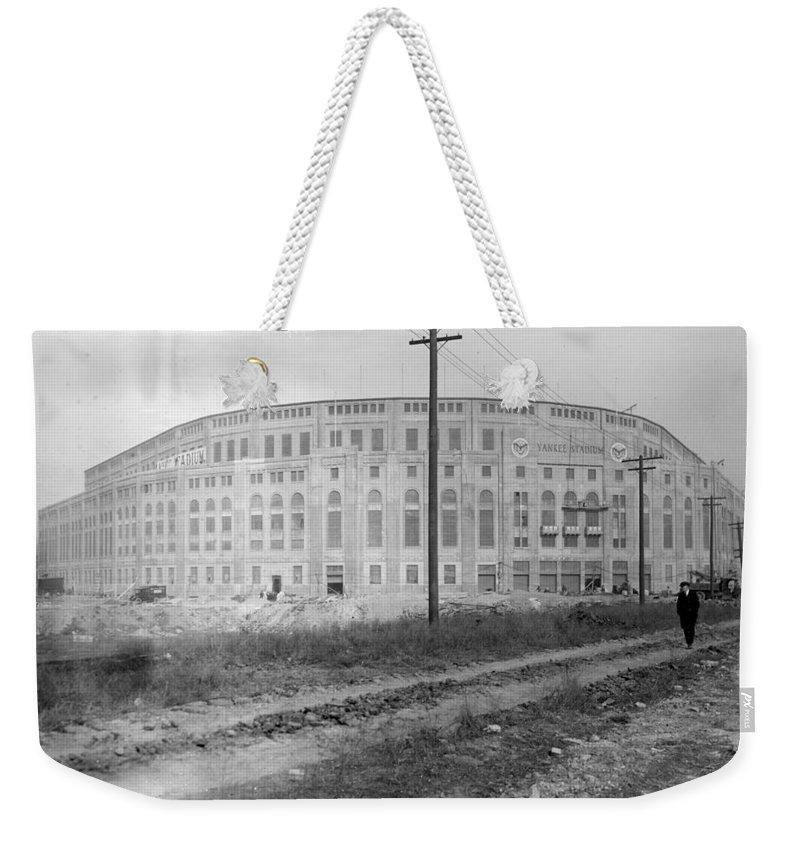 1923 Weekender Tote Bag featuring the photograph Yankee Stadium, 1923 by Granger