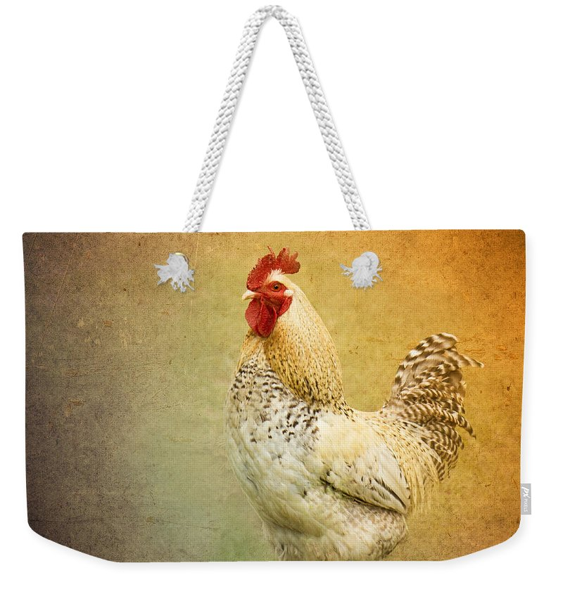 Rooster Weekender Tote Bag featuring the photograph Yard Boss by Betty LaRue