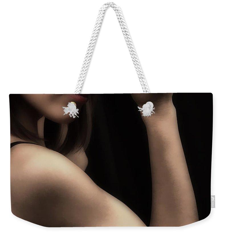 Look Weekender Tote Bag featuring the photograph Yazmin Hat by Agustin Uzarraga