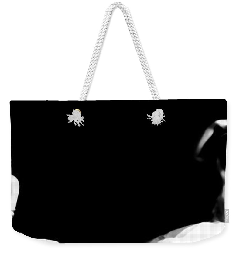 Black Weekender Tote Bag featuring the photograph Yearning For The Unknown by Jessica Shelton