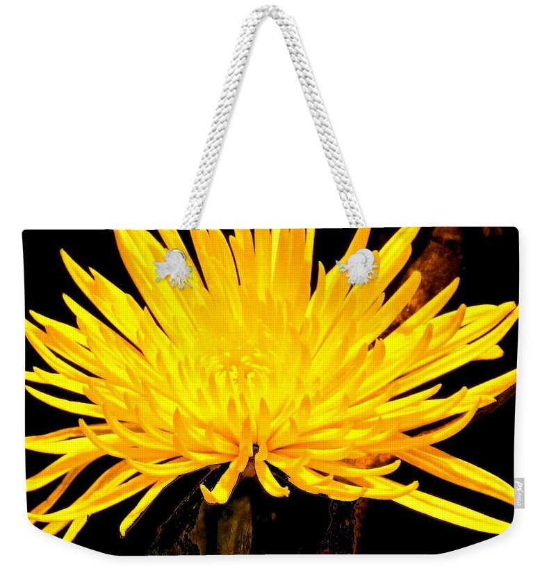 Yellow Weekender Tote Bag featuring the photograph Yellow Flash by Ian MacDonald