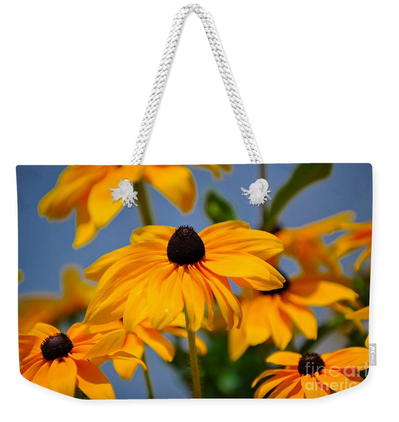 Flower Weekender Tote Bag featuring the photograph Yellow Flowers by Dale Powell