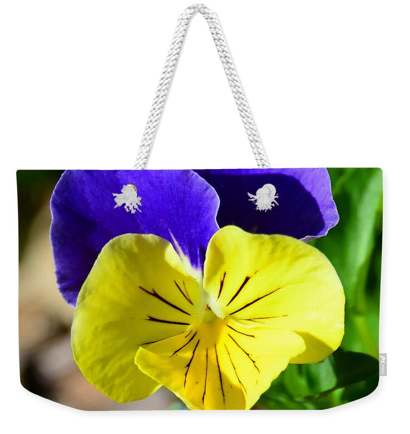Yellow Heart Weekender Tote Bag featuring the photograph Yellow Heart by David Lee Thompson