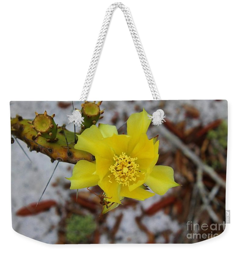 Kerisart Weekender Tote Bag featuring the photograph Yellow Honey by Keri West