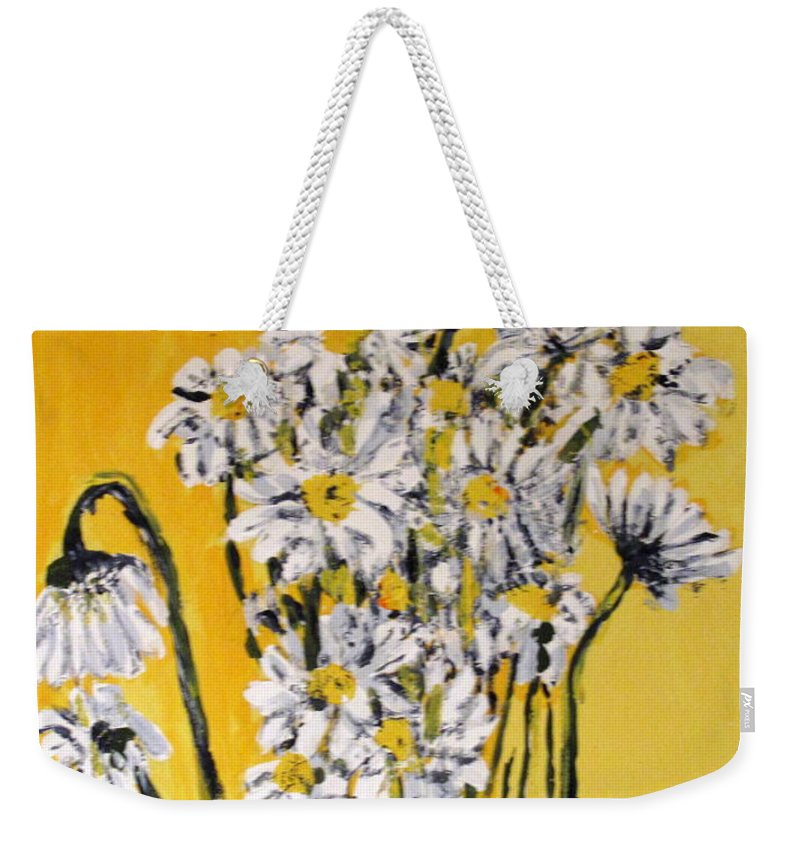 Daisy Weekender Tote Bag featuring the painting Yellow by Ian MacDonald