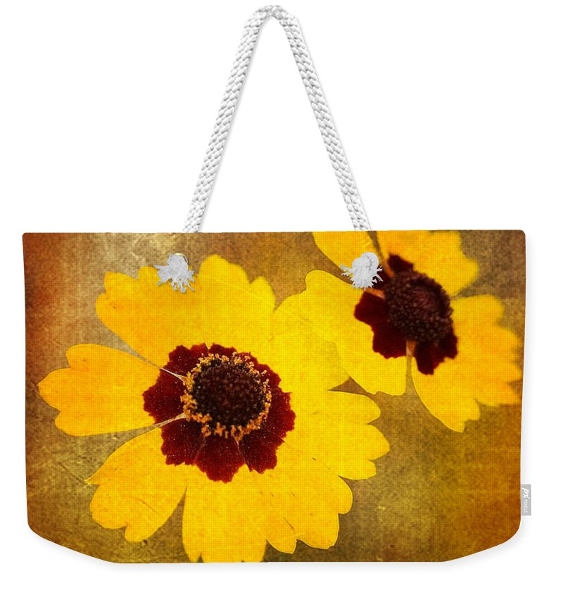 Flower Weekender Tote Bag featuring the photograph Yellow Prize by Scott Pellegrin