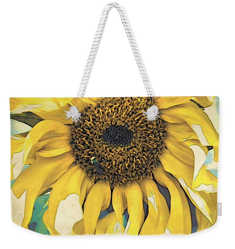 Sunflower Weekender Tote Bag featuring the photograph Yellow Sunflower by Alice Gipson