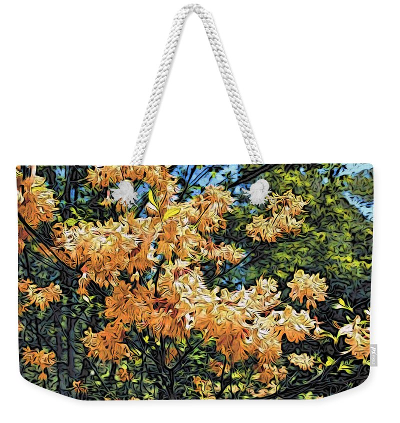 Yellow Flowers Weekender Tote Bag featuring the photograph Yellow Too by Alice Gipson