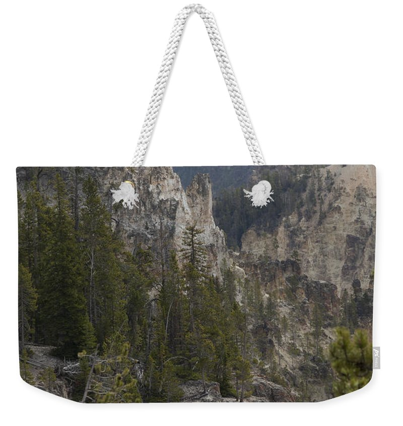 America Weekender Tote Bag featuring the photograph Yellowstone Grand Canyon by Jack R Perry